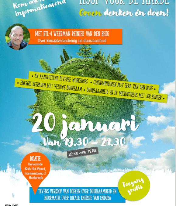 Een interessante informatieavond op 20 janauri in het VISNET in Harderwijk, met Reinier van den Berg.Endura is daar ook vertegenwoordigd ! Aanvang 19.30 u.