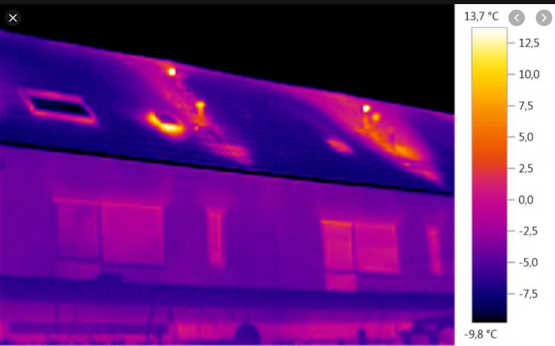 Warmtescan met warmtecamera, gratis voor leden
